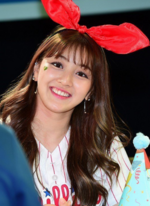 Jihyo at a fanmeeting
