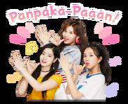 Twice Line Stickers Dahyun, Sana, & Chaeyoung