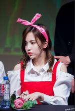 Mina at a fanmeeting