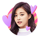 TWICEcoaster Lane 1 VLive Sticker Tzuyu