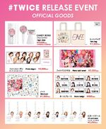 Twice hashtag event merch
