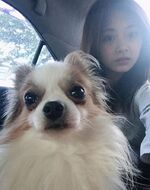 Tzuyu and her dog