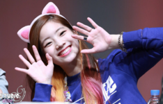 Dahyun wearing cat ears