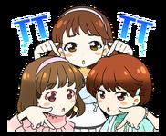 Candy Pop Line Stickers Momo, Nayeon, & Jeongyeon