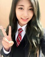 Tzuyu on first day of school
