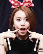 Chaeyoung at a fanmeeting 2