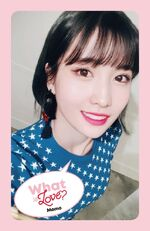 What Is Love Momo Photocard