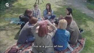 """TWICE playing """"Mafia Game"""" in the park in Switzerland -ENG SUB- - TWICE TV5 Special"""
