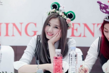 Sana at a fan meeting