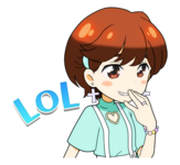 Candy Pop Line Stickers Jeongyeon 2