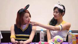 Tzuyu feeding Chaeyoung