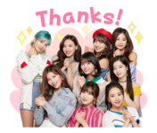 Twice Line Stickers Twice