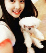 Nayeon with a dog 2