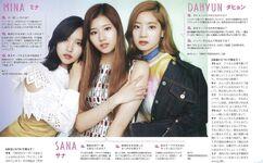 Non-No Mina, Sana, & Dahyun