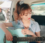 Jihyo playing the guitar 2