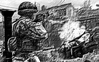 COD4 soldier w exploding car pencil