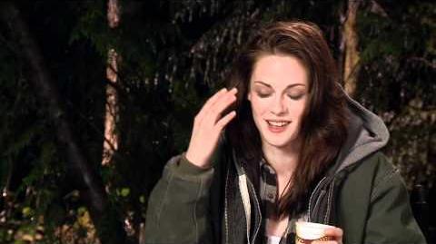 NEW Twilight Saga BreakingDawn Kristen Stewart On Set Interview