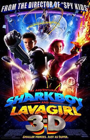 Adventures of shark boy and lava girl poster