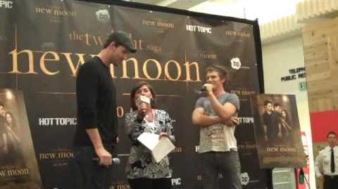 Jackie asking Charlie Bewley and Daniel Cudmore about personal secrets