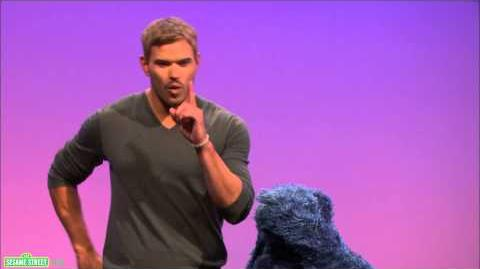 Sesame Street Kellan Lutz and Cookie Monster -- Vibrate