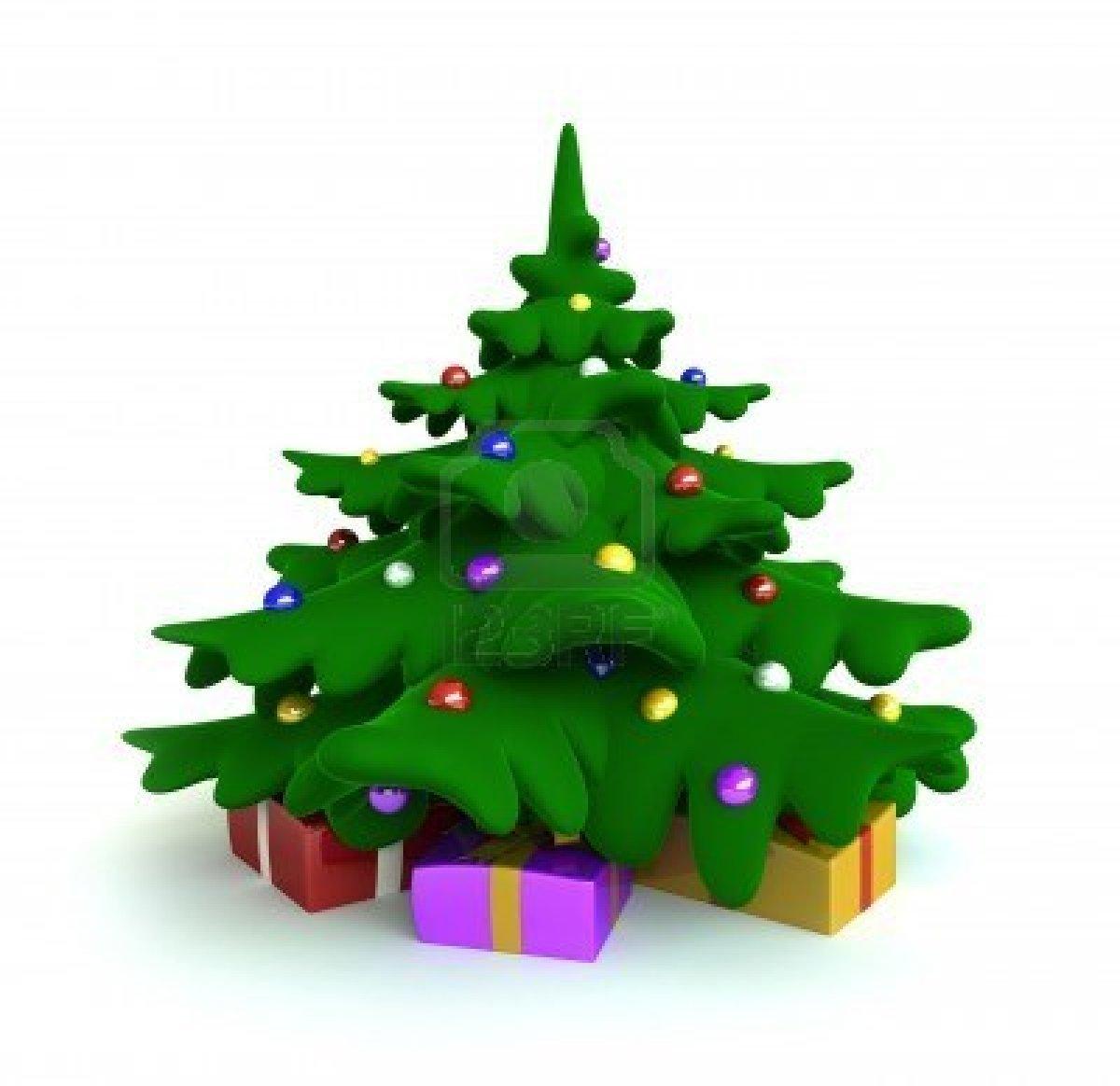 8133144 3d Render Of Christmas Tree Cartoon Style
