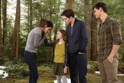 Bella, renesmee, edward y jacob