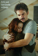 Bella and Charlie embrace