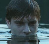 Riley im Wasser