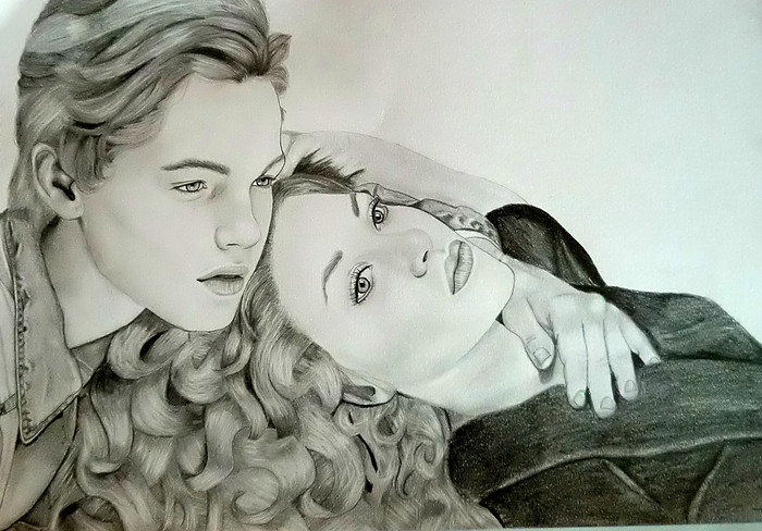 Titanic Jack And Rose Portrait By Thessa Drawings D4xxp0y Jpg