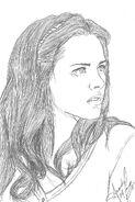 Kristen Stewart by leave love bleedin