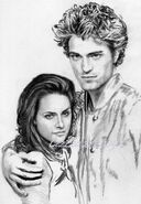Another Kristen and Robert WIP by CezLeo