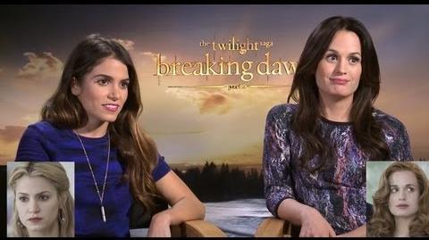 Nikki Reed & Elizabeth Reaser On Wig Evolution of Twilight & Reboot - Breaking Dawn Part 2 Junket