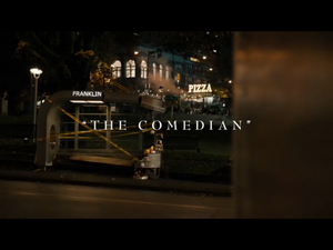 The Comedian title card