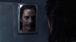 Bob in reflection Twin Peaks 2017