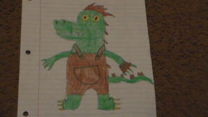 Lloyd The Albino Alligator Drawing