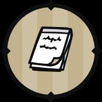 White Notepad Icon