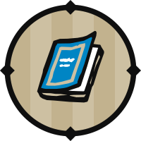 Blue Textbook Icon