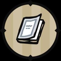 White Textbook Icon