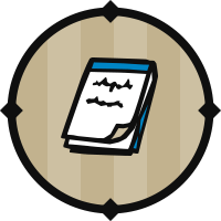 Blue Notepad Icon