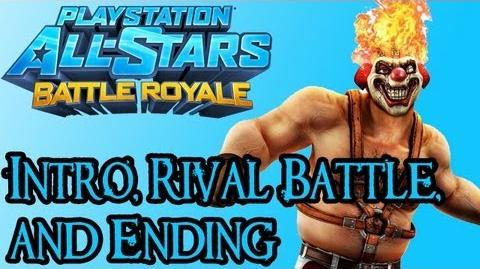 Playstation All Stars Battle Royale - Sweet Tooth Intro, Rival Fight, and Ending