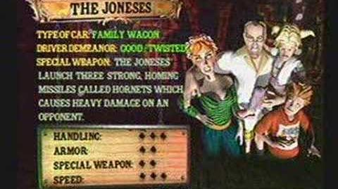Twisted Metal 4 - The Joneses' Info