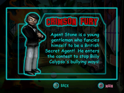Twisted Metal - Small Brawl - Crimson Fury bio