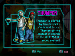 Twisted Metal - Small Brawl - Thumper bio