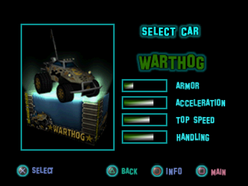 Twisted Metal - Small Brawl - Warthog carsel
