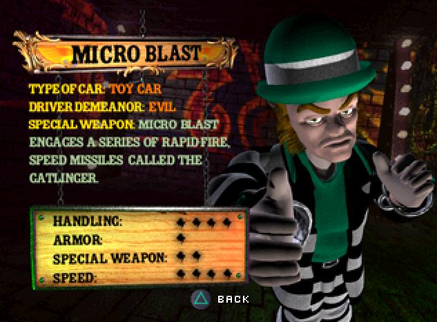 micro blast twisted metal wiki fandom powered by wikia rh twistedmetal wikia com Twisted Metal Black Characters Twisted Metal Black Manslaughter
