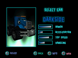 Twisted Metal - Small Brawl - Darkside carsel