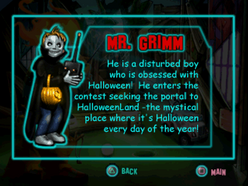 Twisted Metal - Small Brawl - Grimm bio