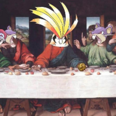Bird Jesus at the Last Supper.