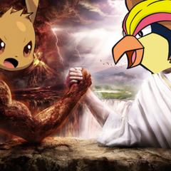 Bird Jesus arm wrestling with <a href=