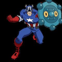 Bronzor and Captain America
